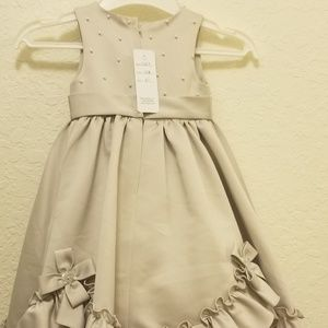Fully lined flower girl dress with ruffles